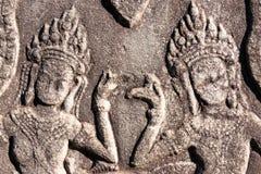 Siem Przeprowadza żniwa, Kambodża, Dec - 08 2016: Ulga przy Bayon świątynią w Ang Obrazy Royalty Free
