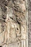 Siem Przeprowadza żniwa, Kambodża, Dec - 08 2016: Ulga przy Bayon świątynią w Ang Zdjęcie Stock