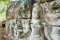 Siem Przeprowadza żniwa, Kambodża, Dec - 13 2016: Ulga przy Krol Ko w Angkor Obraz Royalty Free