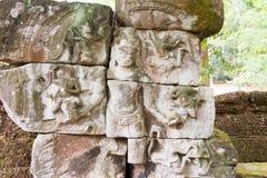 Siem Przeprowadza żniwa, Kambodża, Dec - 13 2016: Ulga przy Krol Ko w Angkor Obrazy Royalty Free