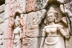 Siem Przeprowadza żniwa, Kambodża, Dec - 13 2016: Ulga przy Krol Ko w Angkor Zdjęcia Royalty Free