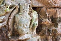Siem Przeprowadza żniwa, Kambodża, Dec - 13 2016: Ulga przy Krol Ko w Angkor Zdjęcia Stock