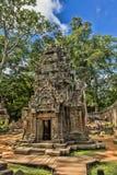 SIEM REAP, КАМБОДЖА 29 06 207: Животики Prum Prasat или Temp Prohm животиков Стоковое фото RF