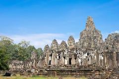 Siem Reap, Камбоджа - 11-ое декабря 2016: Висок Bayon в Angkor Thom Стоковые Изображения RF