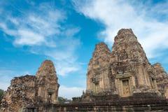 Siem Reap, Камбоджа - 11-ое декабря 2016: Восточное Mebon в Angkor famou Стоковое Изображение