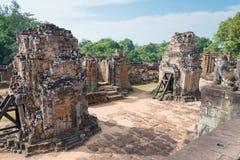 Siem Reap, Камбоджа - 11-ое декабря 2016: Восточное Mebon в Angkor famou Стоковые Изображения