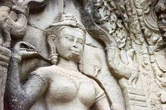 Siem Reap, Камбоджа - 13-ое декабря 2016: Сброс на Preah Khan в Angko Стоковое Изображение