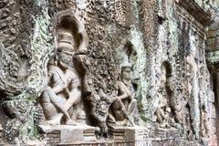 Siem Reap, Камбоджа - 13-ое декабря 2016: Сброс на Preah Khan в Angko Стоковое Изображение RF