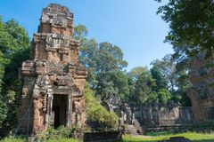 Siem Reap, Камбоджа - 11-ое декабря 2016: Prasat Suor Prat в Th Angkor Стоковое фото RF