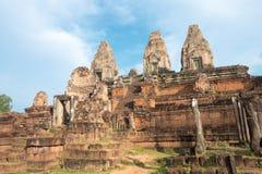 Siem Reap, Камбоджа - 11-ое декабря 2016: Pre Rup в Angkor известный h Стоковые Фото