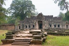 Siem Reap, Камбоджа - 13-ое декабря 2016: Preah Khan в Angkor famou Стоковое фото RF