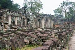 Siem Reap, Камбоджа - 13-ое декабря 2016: Preah Khan в Angkor famou Стоковая Фотография