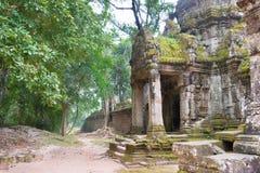 Siem Reap, Камбоджа - 13-ое декабря 2016: Preah Khan в Angkor famou Стоковое Фото