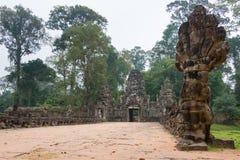 Siem Reap, Камбоджа - 13-ое декабря 2016: Preah Khan в Angkor famou Стоковые Изображения