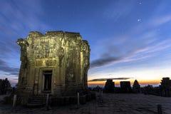Siem Reap Angkor Wat Phnom Bakheng sunrise. Hilltop sunset UNESCO dawn Royalty Free Stock Photo