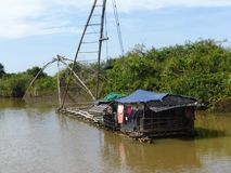 Siem Reap a Battambang/barca - esprima/Cambogia Fotografie Stock Libere da Diritti