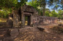 SIEM REAP, CAMBODIA. Angkor Thom. Ancient Khmer pre Angkor architecture temple complex Royalty Free Stock Image
