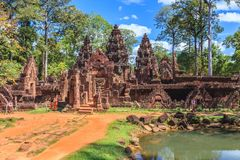 Banteay Srei Temple - Siem Reap - Cambodia Royalty Free Stock Photography