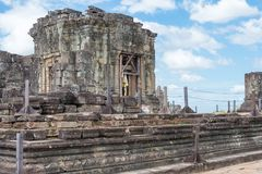 Siem Reap, Cambodia - Dec 05 2016: Phnom Bakheng in Angkor. a fa. Mous Historical site(UNESCO World Heritage) in Angkor, Siem Reap, Cambodia Stock Photo