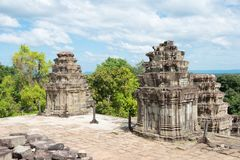 Siem Reap, Cambodia - Dec 05 2016: Phnom Bakheng in Angkor. a fa. Mous Historical site(UNESCO World Heritage) in Angkor, Siem Reap, Cambodia Royalty Free Stock Photography