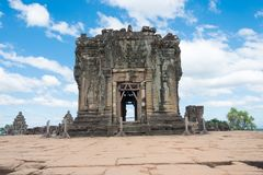 Siem Reap, Cambodia - Dec 05 2016: Phnom Bakheng in Angkor. a fa. Mous Historical site(UNESCO World Heritage) in Angkor, Siem Reap, Cambodia Stock Image