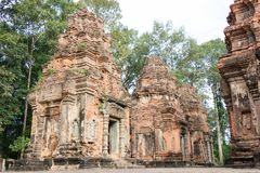 Siem Reap, Cambodia - Dec 01 2016: Preah Ko in Roluos temples. a. Famous Historical site(UNESCO World Heritage) in Siem Reap, Cambodia Stock Photo