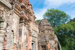 Siem Reap, Cambodia - Dec 01 2016: Preah Ko in Roluos temples. a. Famous Historical site(UNESCO World Heritage) in Siem Reap, Cambodia Royalty Free Stock Image