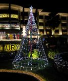 Celebrating Christmas in southeast Asian countries. Christmas street decorations near the. Siem Reap, Cambodia, December 13, 2018 Celebrating Christmas in royalty free stock image
