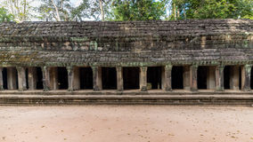 Siem Reap, Cambodia - December 07, 2015: Corridor from Ta Prohm temple at Angkor Archaeological Park of Siem Reap in Cambodia Stock Photo