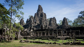 Siem Reap, Cambodia, December 06, 2015: The many face temple of Bayon at the Angkor Wat site in Cambodia Stock Photos