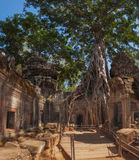 SIEM REAP, CAMBODIA. December 16, 2011. Panorama of ancient ston. Angkor Wat Hindu temple complex in Cambodia, dedicated to Lord Vishnu. Angkor is included in Royalty Free Stock Photo
