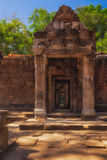 SIEM REAP, CAMBODIA. Entrance to the temple of Ta Prohm. Stock Photo