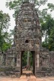 Entrance to ancient Preah Khan temple in Angkor, Cambodia Stock Photo