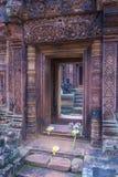 Banteay Srei Temple in Cambodia. SIEM REAP , CAMBODIA - OCT 17 : The Banteay Srei Temple near Siem Reap Cambodia on October 17 2017 , Banteay Srey is a 10th Stock Photo