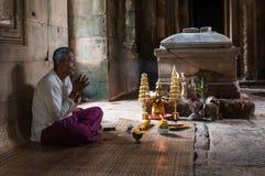 SIEM REAP, CAMBODIA- SEPTEMBER 8, 2012: holy man i Stock Image
