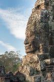 Siem Reap Cambodja - December 08 2016: Bayon tempel i Angkor Thom Arkivfoto