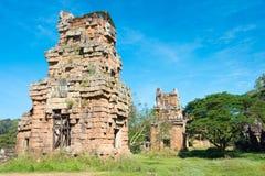 Siem Reap Cambodja - December 08 2016: Prasat Suor Prat i Angkor Th Arkivfoton