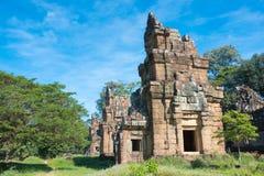 Siem Reap Cambodja - December 08 2016: Prasat Suor Prat i Angkor Th Royaltyfri Foto