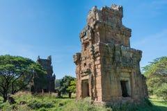 Siem Reap Cambodja - December 08 2016: Prasat Suor Prat i Angkor Th Royaltyfri Fotografi