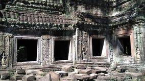 Siem Reap Cambodja tempelfönster Arkivfoton