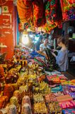 Pub Street, with many restaurants, coffee shops, and Street vendor here. Siem Reap city, Cambodia - August 3th, 2016:The views of street and alley in downtown Royalty Free Stock Photo