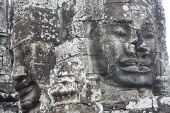 Siem Reap Faces. Faces at Bayon Temple in Siem Reap near Angkor Wat stock photography