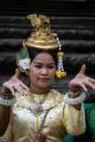 SIEM REAP, KAMBODSCHA - 27. FEBRUAR: Nicht identifiziertes traditionelles Khme stockfotografie