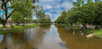 Siem Reap river - Cambodia. Siem Reap is Cambodia`s main tourist cities,World Seven Wonders of Angkor Wat in Siem Reap Royalty Free Stock Images