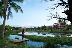 Siem Reap river - Cambodia royalty free stock photography