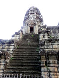 Siem Reap Stairs to Tower Royalty Free Stock Photo