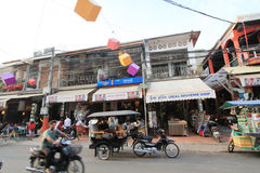 Siem Reap street view in Cambodia Royalty Free Stock Image
