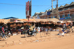 Siem Reap street view in Cambodia Stock Photo