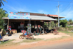 Siem Reap street view in Cambodia Royalty Free Stock Photography