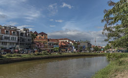Siem Reap town in sunny day in Cambodia Royalty Free Stock Photography